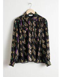 & Other Stories - Sheer Metallic Button Up Shirt - Lyst