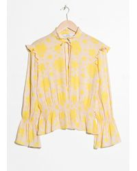 & Other Stories - Bell Sleeve Blouse - Lyst