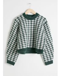 & Other Stories - Houndstooth Sweater - Lyst