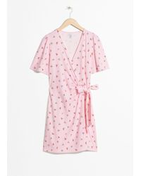 & Other Stories - Tropical Flower Wrap Dress - Lyst