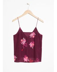& Other Stories - Silk Camisole Top - Lyst