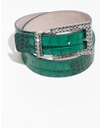 & Other Stories - Croc Embossed Belt - Lyst