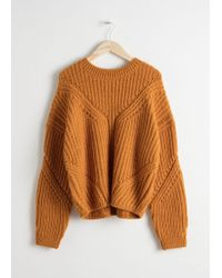 & Other Stories - Oversized Curved Knit Jumper - Lyst