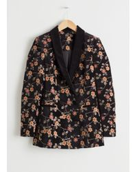 & Other Stories - Floral Embroidered Velvet Blazer - Lyst