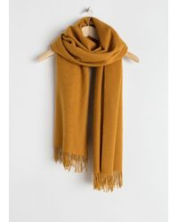 & Other Stories - Oversized Wool Scarf - Lyst