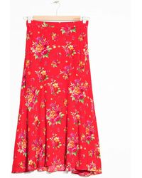& Other Stories | Asymmetrical Floral Midi Skirt | Lyst