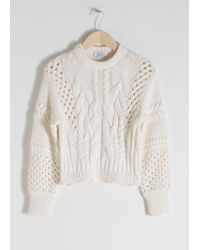 & Other Stories - Cropped Cable Knit Jumper - Lyst