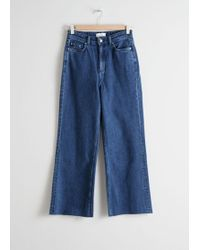 & Other Stories - Cropped Mid Rise Flared Jeans - Lyst