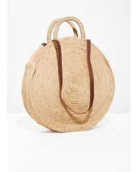 & Other Stories - Straw Circle Bag - Lyst