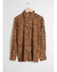 & Other Stories - Leopard Print Button Down Shirt - Lyst