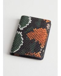 & Other Stories - Snake Embossed Leather Cardholder - Lyst