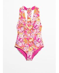 & Other Stories - Deep Cut Swimsuit - Lyst