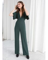 & Other Stories - Plunging V-cut Jumpsuit - Lyst