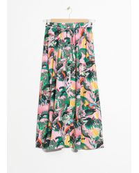& Other Stories - Tropical Print Midi Skirt - Lyst