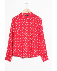 & Other Stories - Cherry Print Button Down - Lyst