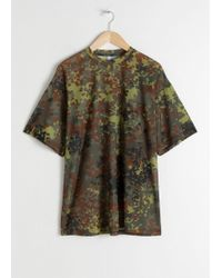 & Other Stories - Oversized Camouflage Mesh Tee - Lyst