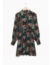 & Other Stories | Dark Blooms Print Dress | Lyst