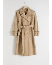 & Other Stories - Belted A-line Trenchcoat - Lyst