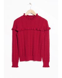 & Other Stories   Ruffle Knit Jumper   Lyst