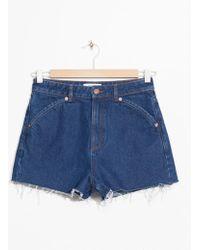 & Other Stories - Raw Edge Denim Shorts - Lyst