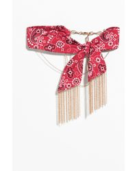 & Other Stories - Bandana Chain Choker - Lyst