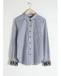 & Other Stories - Beaded Pinstripe Button Up Shirt - Lyst