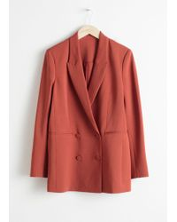 & Other Stories - Oversized Double Breasted Blazer - Lyst