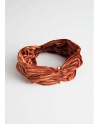 & Other Stories - Velvet Striped Hairband - Lyst