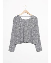 & Other Stories   V-cut Back Sweater   Lyst