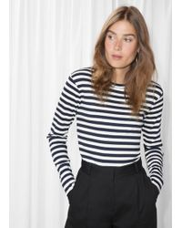 & Other Stories - Ribbed Stripe Top - Lyst