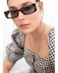 & Other Stories - Rectangular Frame Sunglasses - Lyst