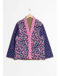 & Other Stories - Floral Print Quilted Jacket - Lyst