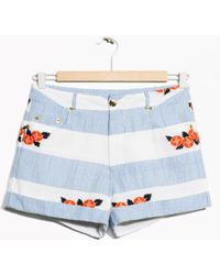 & Other Stories | Flower Embroidery Shorts | Lyst