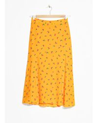 & Other Stories - Asymmetrical Floral Midi Skirt - Lyst