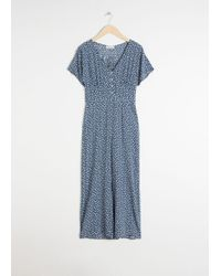 & Other Stories - Button Up Jumpsuit - Lyst