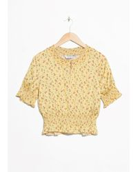 & Other Stories | Floral Print Ruched Blouse | Lyst