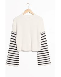 & Other Stories   Striped Flare Sleeve Jumper   Lyst