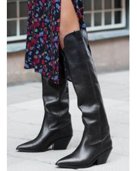 & Other Stories - Knee High Cowboy Boots - Lyst
