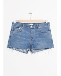 & Other Stories | Raw Hem Jeans Shorts | Lyst