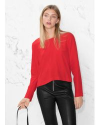 & Other Stories - V-cut Back Sweater - Lyst