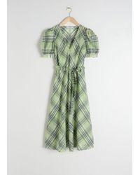 & Other Stories - Cotton Silk Blend Plaid Dress - Lyst