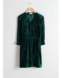 & Other Stories - Velvet Wrap Dress - Lyst
