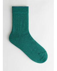 & Other Stories - Glitter Ankle Socks - Lyst