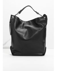 & Other Stories - Leather Hobo Backpack - Lyst