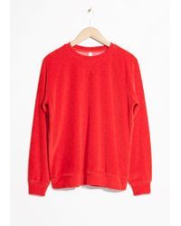 & Other Stories | Velour Sweatshirt | Lyst