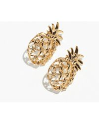 & Other Stories - Pineapple Stud Earrings - Lyst
