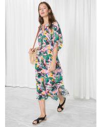 & Other Stories - Printed Midi Kaftan Dress - Lyst
