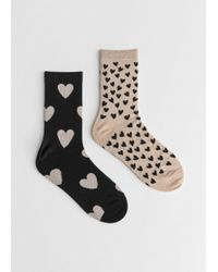& Other Stories - Set Of Heart Socks - Lyst