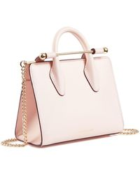 Strathberry - The Nano Tote In Baby Pink Leather - Lyst