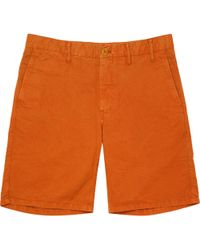Norse Projects - Burned Red Aros Light Twill Shorts - Lyst